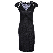 Buy Yanny London Layered Chantilly Lace Dress, Midnight Blue Online at johnlewis.com