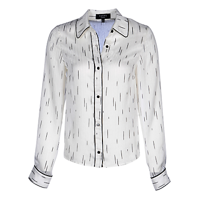Yanny London Contrast Piping Shirt, White