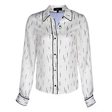 Buy Yanny London Contrast Piping Shirt, White Online at johnlewis.com