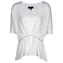 Buy Yanny London Drape Layered Blouse, White Online at johnlewis.com
