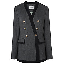 Buy L.K. Bennett Catrin Herringbone Jacket, Grey Online at johnlewis.com