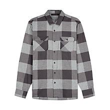 Buy Jaeger Buffalo Check Overshirt, Grey Online at johnlewis.com