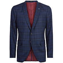 Buy Jaeger Exploded Check Slim Blazer, Navy Online at johnlewis.com