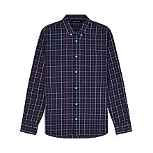 Buy Jaeger Windowpane Check Shirt, Navy/Fox Online at johnlewis.com