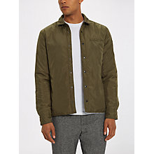Buy Jaeger Reversible Nylon Showerproof Shacket, Olive/Grey Online at johnlewis.com