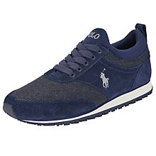 Buy Polo Ralph Lauren Ponteland Suede Trainers, Navy Online at johnlewis.com