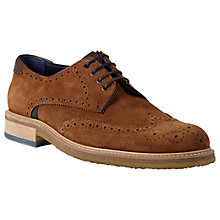 Buy Ted Baker Prycce Wing Derby Shoes, Light Tan Online at johnlewis.com