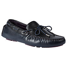 Buy Ted Baker Melato Moccasin Driving Shoes, Blue Online at johnlewis.com