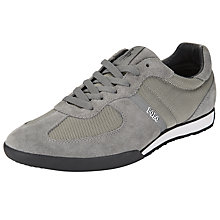 Buy Polo Ralph Lauren Jacory Suede Lace-Up Trainers, Grey Online at johnlewis.com