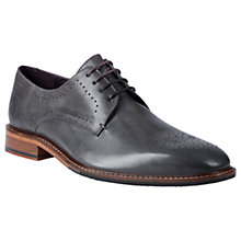 Buy Ted Baker Marar Perforated Derby Shoes, Grey Online at johnlewis.com