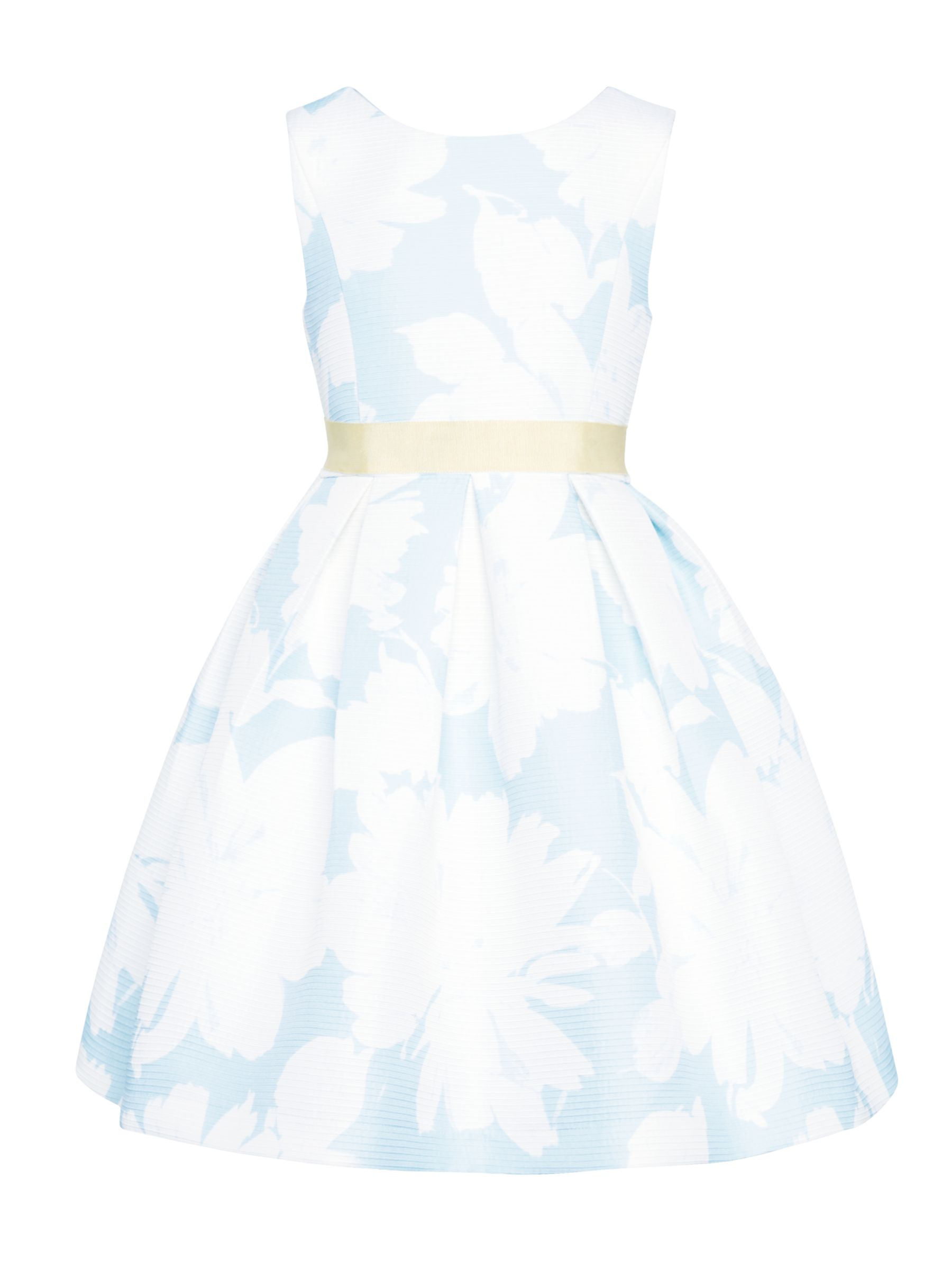 John Lewis Heirloom Collection John Lewis Heirloom Collection Girls' Textured Print Dress, Blue