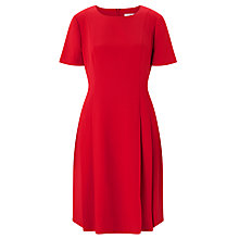 Buy John Lewis Fit And Flare Dress, Red Online at johnlewis.com