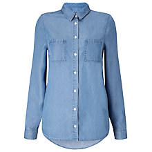 Buy Phase Eight Kleo Chambray Shirt, Blue Online at johnlewis.com