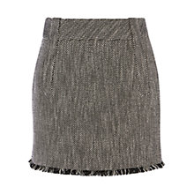 Buy Karen Millen Check Tweed Skirt, Black Online at johnlewis.com