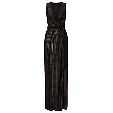 Buy Phase Eight Stripe Wrap Dress, Black/Gold Online at johnlewis.com