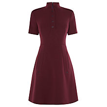 Buy Karen Millen Tailored Crepe Dress, Dark Red Online at johnlewis.com