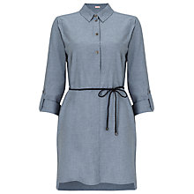 Buy Phase Eight Bina Button Tunic Dress, Chambray Online at johnlewis.com