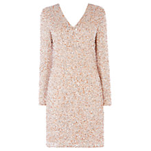 Buy Coast Bella Sequin Dress, Blush Online at johnlewis.com