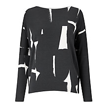 Buy Phase Eight Costa Rice Top, Grey/Ivory Online at johnlewis.com