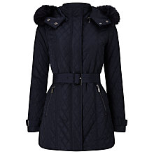 Buy Phase Eight Mistico Diamond Puffer Jacket, Navy Online at johnlewis.com