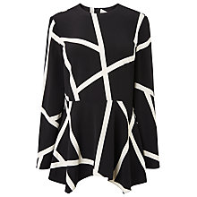 Buy L.K. Bennett Aita Maxi Stripe Silk Top, Black Online at johnlewis.com