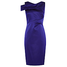 Buy Karen Millen Couture Draped Satin Dress, Blue Online at johnlewis.com