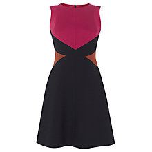 Buy Karen Millen Colour Block Dress, Red/Multi Online at johnlewis.com