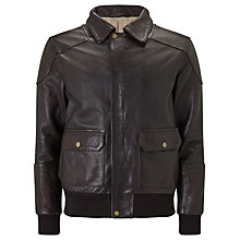 Buy JOHN LEWIS & Co. Premium Leather Jacket, Brown Online at johnlewis.com
