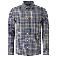 Buy JOHN LEWIS & Co. Arkansas Check Shirt, Blue Online at johnlewis.com