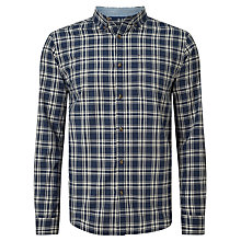 Buy John Lewis Check Twill Shirt, Navy Online at johnlewis.com