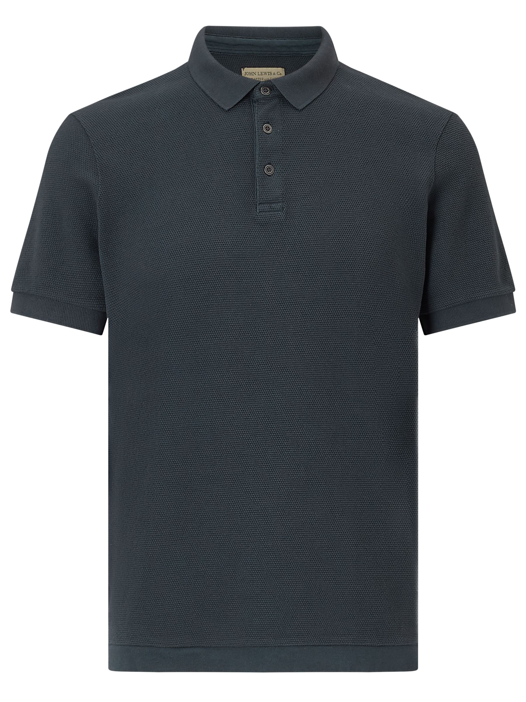 JOHN LEWIS & Co. JOHN LEWIS & Co. Knitted Texture Polo Shirt