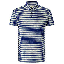 Buy JOHN LEWIS & Co. Tea Stained Stripe Polo Shirt, Navy/White Online at johnlewis.com