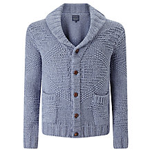 Buy JOHN LEWIS & Co. Jacquard Cotton Shawl Collar Cardigan, Indigo Online at johnlewis.com