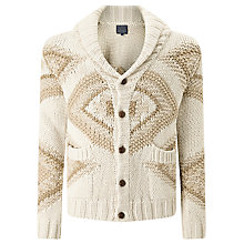 Buy JOHN LEWIS & Co. Jacquard Cotton Shawl Collar Cardigan, Multi Online at johnlewis.com