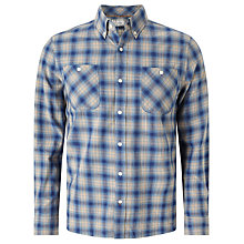 Buy John Lewis Blurred Check Shirt, Blue Online at johnlewis.com