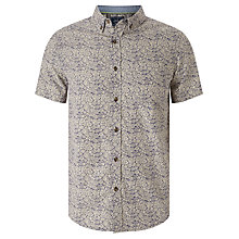 Buy John Lewis Island Floral Print Short Sleeve Shirt, Navy Online at johnlewis.com