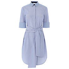 Buy Warehouse Stripe Shirt Dress, Blue Stripe Online at johnlewis.com