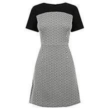 Buy Oasis Block Party Dress, Black/White Online at johnlewis.com