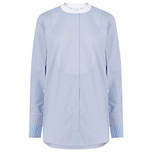 Buy Warehouse Oversized Grandad Shirt, Blue Stripe Online at johnlewis.com