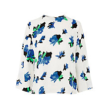Buy Warehouse Ink Rose Top, Cream Online at johnlewis.com