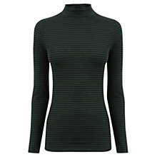 Buy Oasis Stripe Turtle Neck Top, Multi Online at johnlewis.com