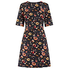 Buy Warehouse Floral Ponte Dress, Multi Online at johnlewis.com