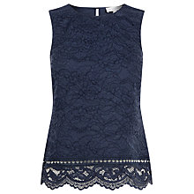Buy Warehouse Bonded Lace Shell Top Online at johnlewis.com