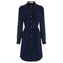 Buy Oasis Utility Piped Shirt Dress, Navy Online at johnlewis.com