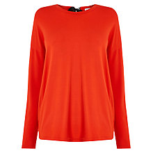 Buy Warehouse Tie Back Top, Bright Red Online at johnlewis.com