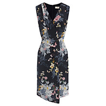 Buy Oasis Botanical Bouquet Silk Dress, Multi/Blue Online at johnlewis.com