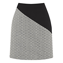 Buy Oasis Block Party Skirt, Black/White Online at johnlewis.com