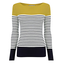 Buy Oasis Stripe Skinny Colourblock Rib Knit, Multi/Orange Online at johnlewis.com