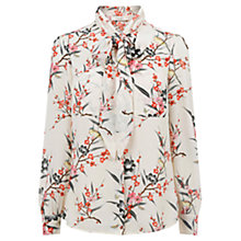 Buy Oasis Hannah Oriental Blouse, Natural/Multi Online at johnlewis.com