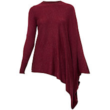 Buy Ted Baker Ulseen Asymmetric Sparkle Jumper, Oxblood Online at johnlewis.com